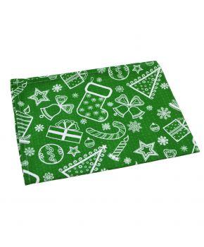 Новогоднее полотенце кухонное Green