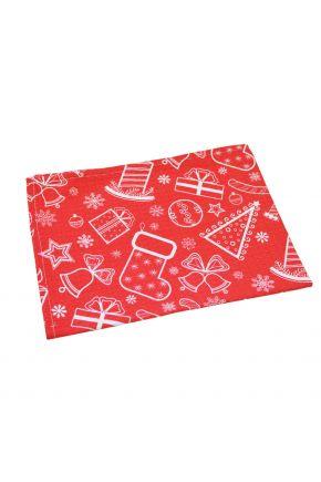 Кухонное новогоднее полотенце Red
