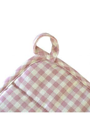 Кухонная прихватка Bella Розы/Розовая клеточка