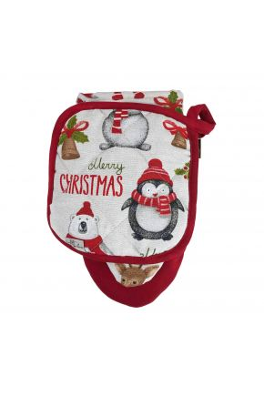 Набор прихватка и рукавица Веселый Санта