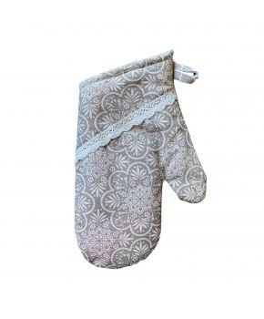 Кухонная рукавица La Nuit Агата кружево капучино