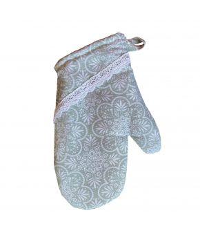 Кухонная рукавица La Nuit Агата кружево верде
