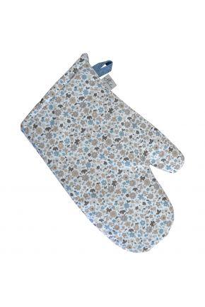 Кухонная рукавица Ретро с синим