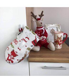 Кухонная рукавица Веселый Санта