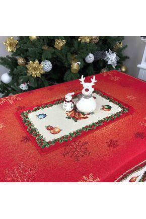 Гобеленовая салфетка новогодняя Праздник