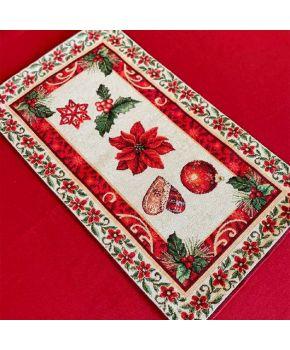 Гобеленовая салфетка новогодняя Рождество