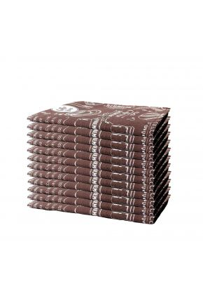 Набор 12 ед салфеток на стол Breakfast Brown