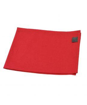Новогодняя салфетка на стол красная