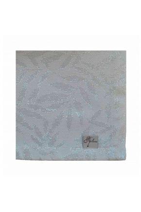 Салфетка белое серебро Эльза