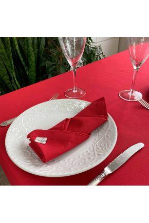 Салфетка на стол Красная