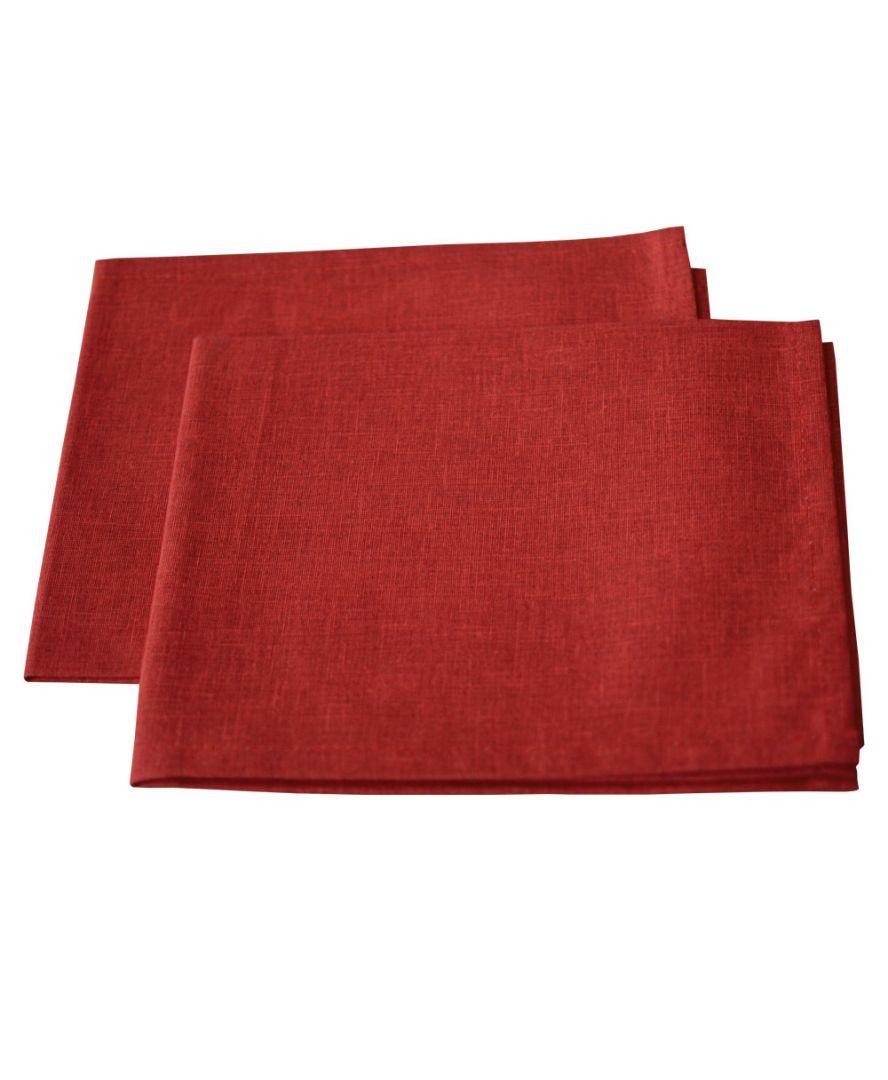 Салфетка на стол Living красная