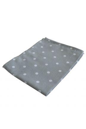 Тканевая салфетка для стола горох серый