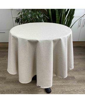 Скатертина на стіл кругла Беж