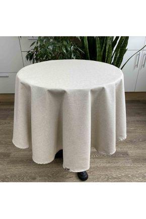 Скатерть на стол круглая Беж