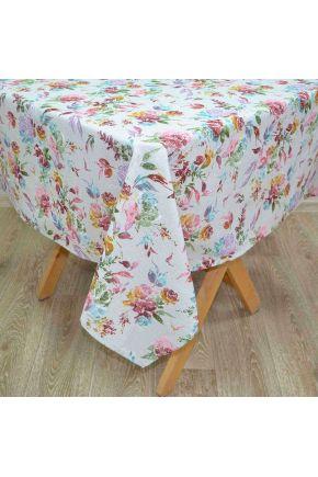 Скатерть на стол La Nuit ORO Роза разноцветная