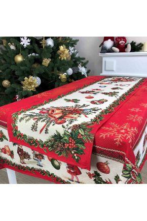 Гобеленовая скатерть новогодняя Праздник