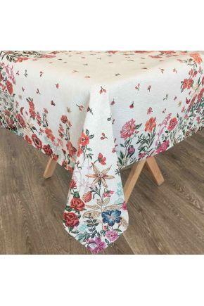 Гобеленовая скатерть на стол Цветочное поле