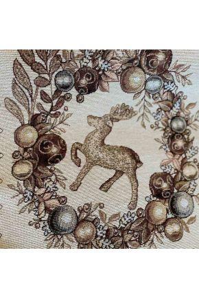 Гобеленовая скатерть новогодняя Золотые праздники