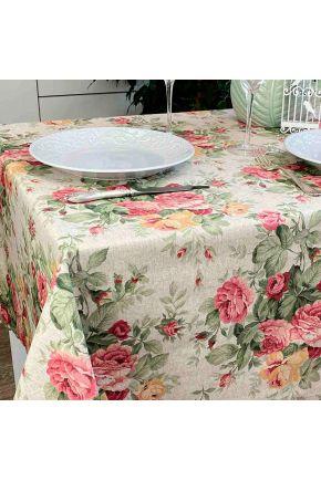 Водоотталкивающая скатерть Симфони Букет роз