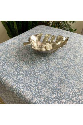 Водоотталкивающая скатерть Симфони Lace on blue