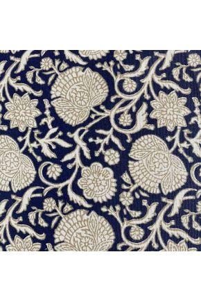 Водоотталкивающая скатерть Симфони Цветы синие
