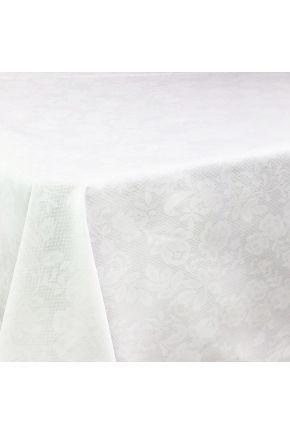 Скатерть водоотталкивающая Симфони кружево на белом