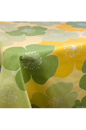 Водоотталкивающая скатерть Симфони зеленые цветы