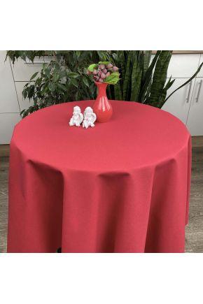 Скатерть на стол круглая Красная