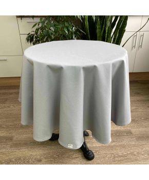 Скатерть на стол круглая Серая