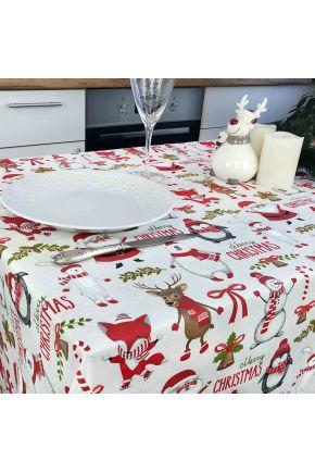 Скатерть на стол Веселый Санта