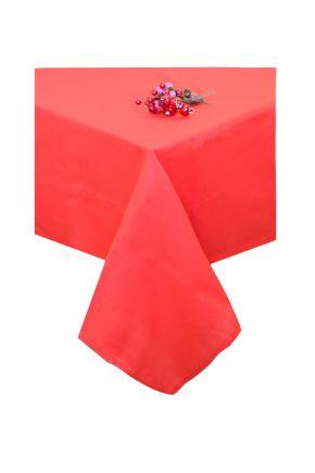 Новогодняя скатерть красная