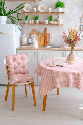 Скатерть на стол Bella Розовая клеточка