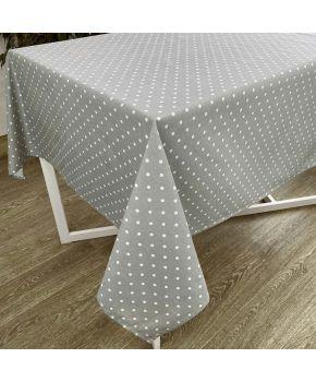 Скатерть на стол Горох серый