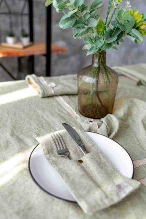 Скатерть на стол круглая HYGGE Boa