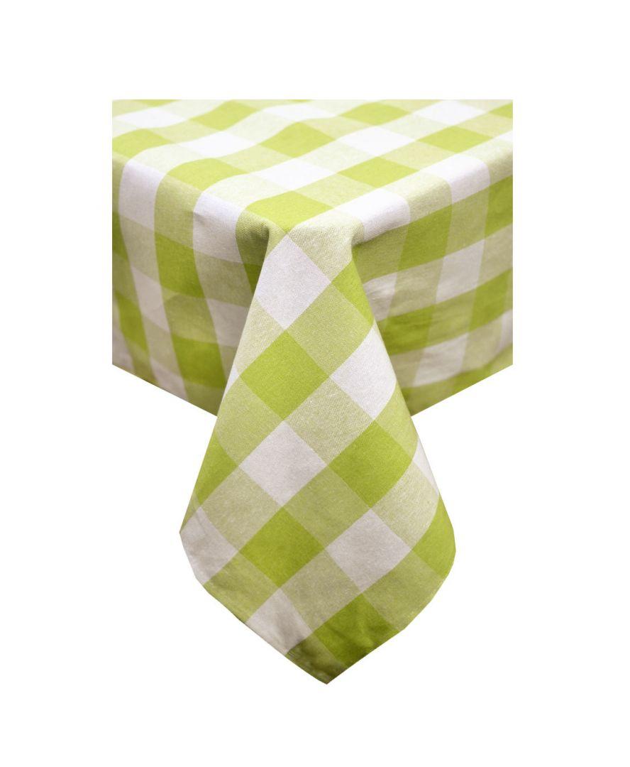 Скатерть на стол Кантри зеленая клетка