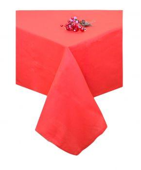 Скатерть на стол новогодняя красная