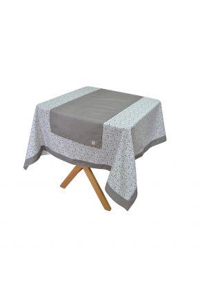 Скатерть на стол Ретро с серым кантом