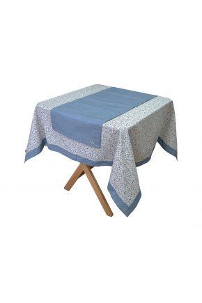 Скатерть на стол Ретро с синим кантом
