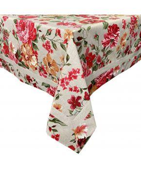 Скатерть на стол с кантом La Nuit РОУЗ Цветы большие