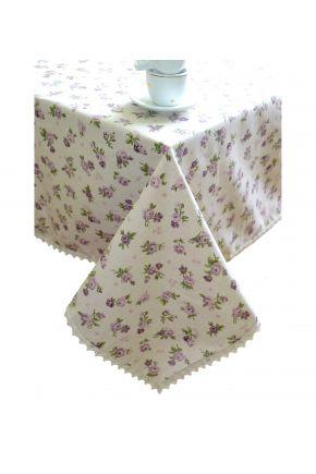 Скатерть с кружевом Прованс Lilac Rose