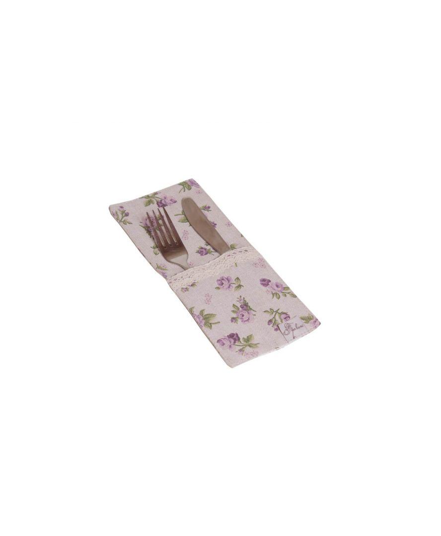 Чехол для приборов с кружевом Lilac rose