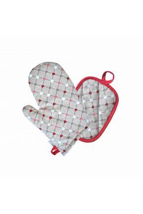 Набор прихватка и рукавица Разноцветные сердца