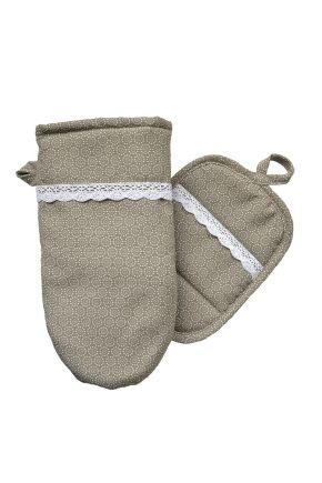 Набор прихватка и рукавица Точки