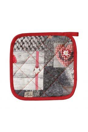 Новогодний набор прихватка и рукавица для кухни Digitale red