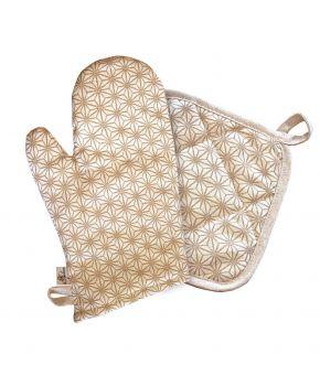 Новогодний набор прихватка и рукавица для кухни Golden Star