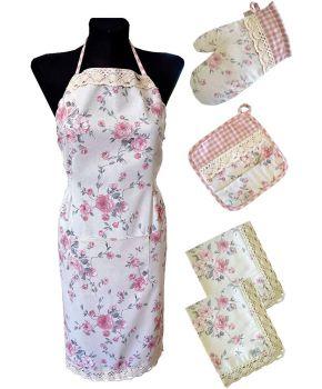 Набор 2 салфетки, фартук, прихватка и рукавичка Bella