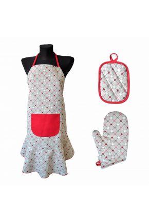 Набор для кухни Цветные сердца