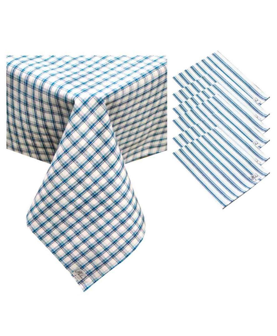 Набор скатерть и салфетки Кантри синие