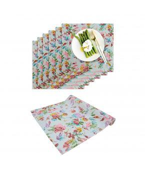 Набор 6 салфеток и дорожка на стол ORO Разноцветная роза