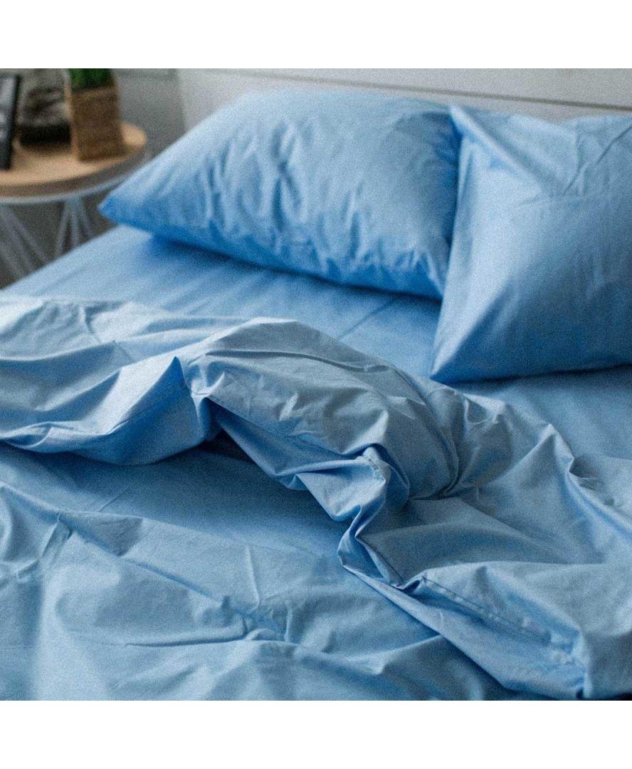 Постельное белье поплин Голубой